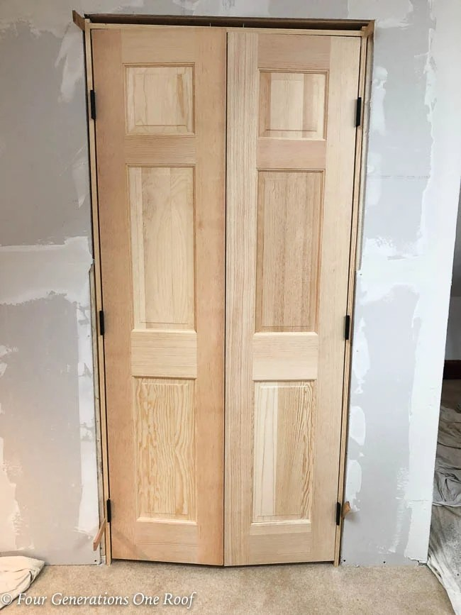 French Closet Doors Installation On Slanted Ceiling Lady