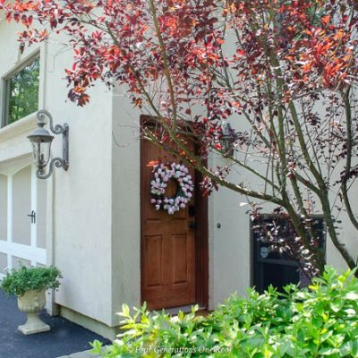 Side Entrance Garage Door Makeover with Schlage