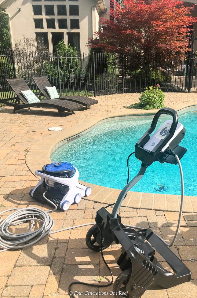 Best pool cleaning robot -Hayward AquaVac 6 Series robotic pool cleaner, patio, pool