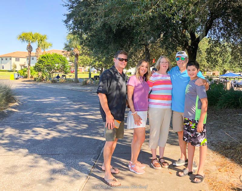 multigenerational family Orlando Omni Resort Piper's Grill