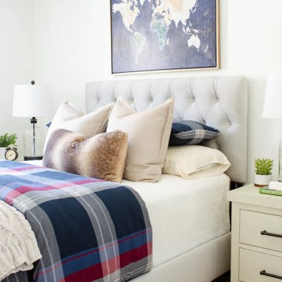 Designing a Bedroom at My Boyfriends House for My Teen Son at Raymour & Flanigan