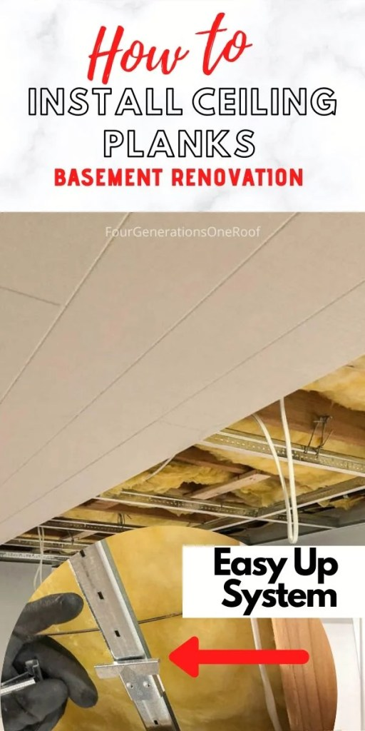How to install ceiling planks in a basement