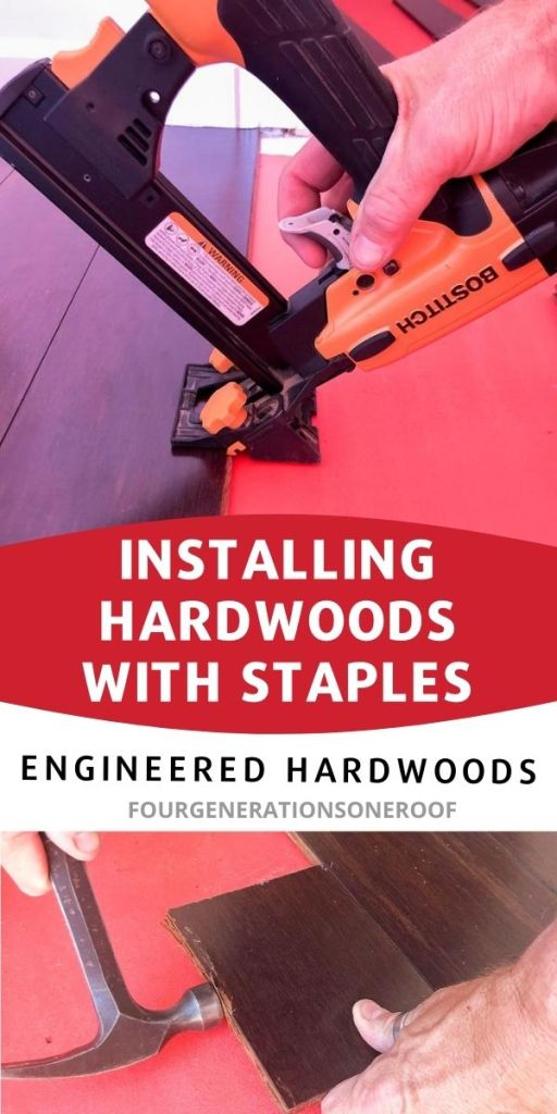 installing hardwoods with staples