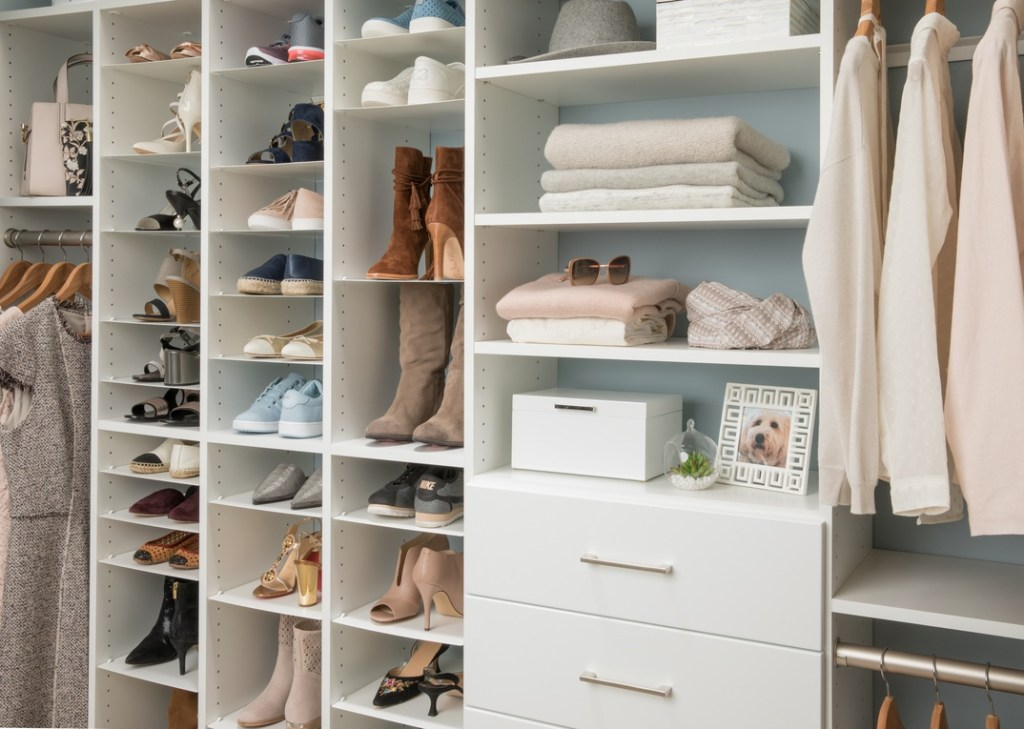 easy closets wood diy wall closet system with shoe organizer