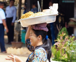 Noodle Seller on Train in Northern Shan State, Myanmar