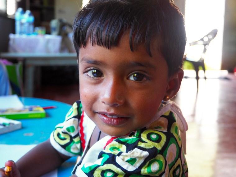Student at St. Andrew's Church Preschool, Amherst Bazaar, Sri Lanka