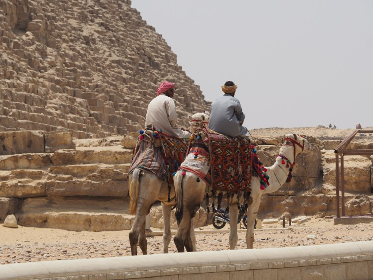 Camel Riders at the Pyramids