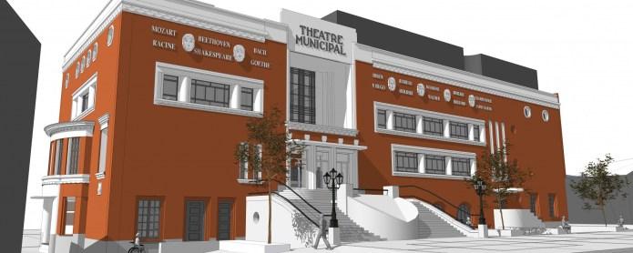 Vue numérique de la façade du Théâtre Jean Ferrat