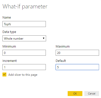 DAX (Power BI) – Dynamic TopN made easy with What If Parameter