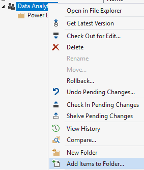 Using Version Control with Power BI Desktop Files, check in, check