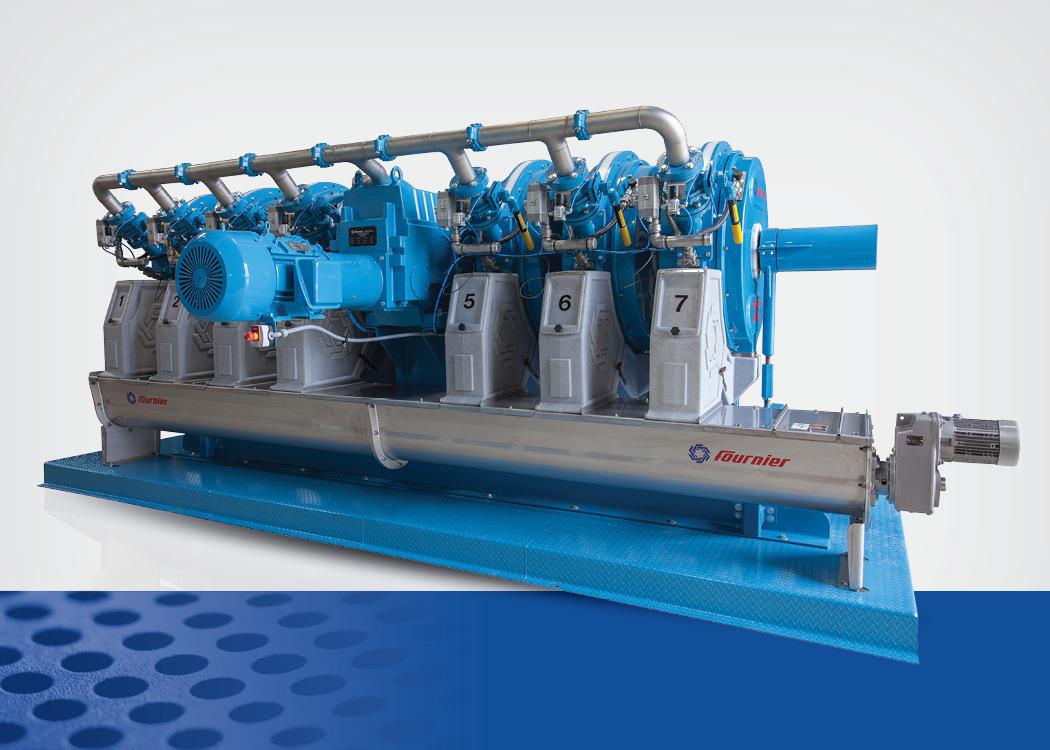 hight resolution of rotary press sludge dewatering