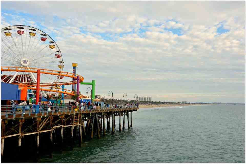 Ferris Wheel at Santa Monica Pier - California sights along the highway 1