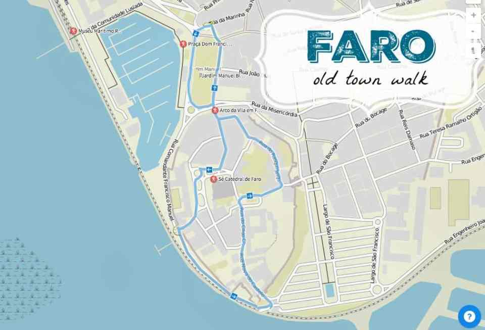 walking tour through Faro's old town