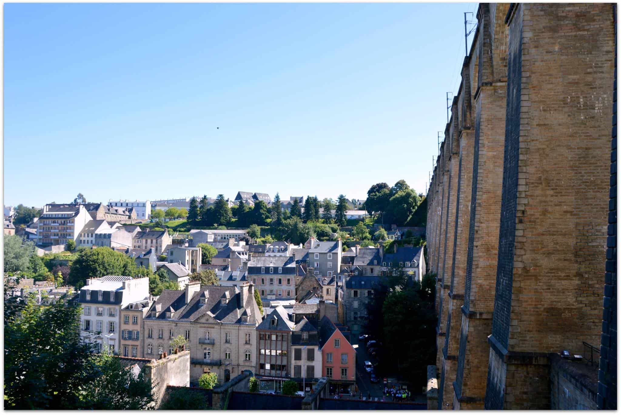 the Viaduct of Morlaix .. and a pretty view over town. Plus: blue skies