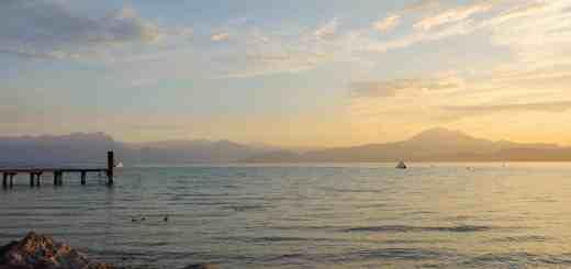 Lake Garda in the very early morning light