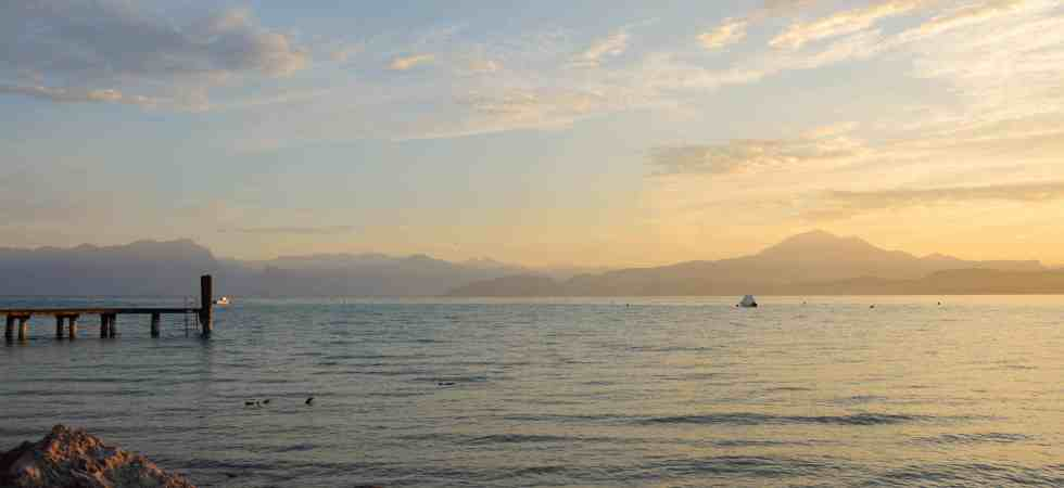 Lake Garda in the very early morning light