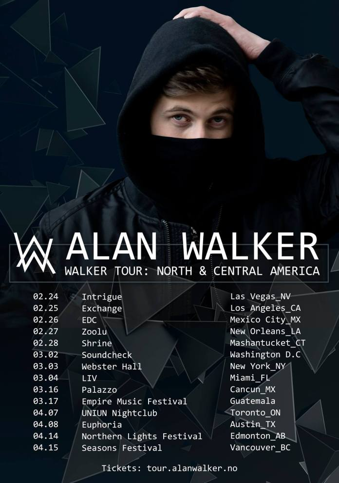 Alan Walker tour poster