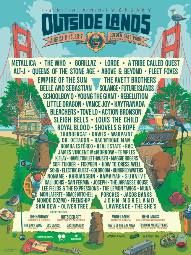 Outside Lands 2017 poster