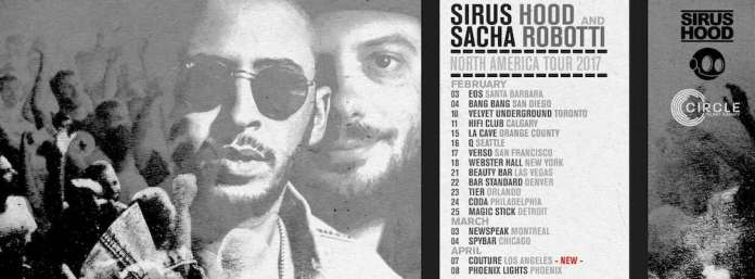 Sacha Robotti and Sirus Hood tour poster