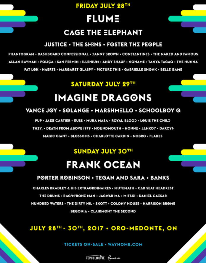 WayHome Festival 2017 poster