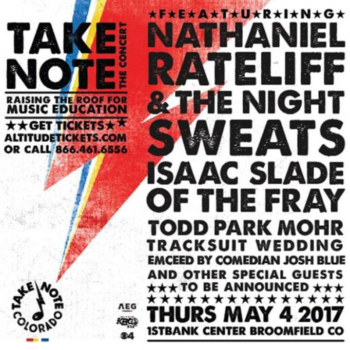 Take Note concert poster