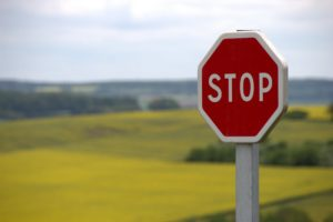 fake stop sign