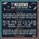 The Meadows Music & Arts Festival lineup poster square