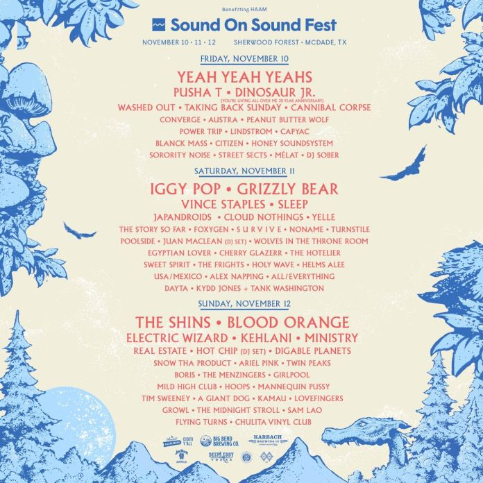 Sound on Sound Fest lineup poster