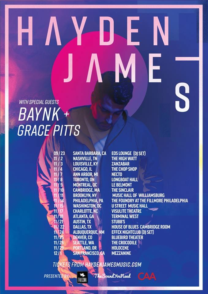 hayden james baynk grace pitts tour poster