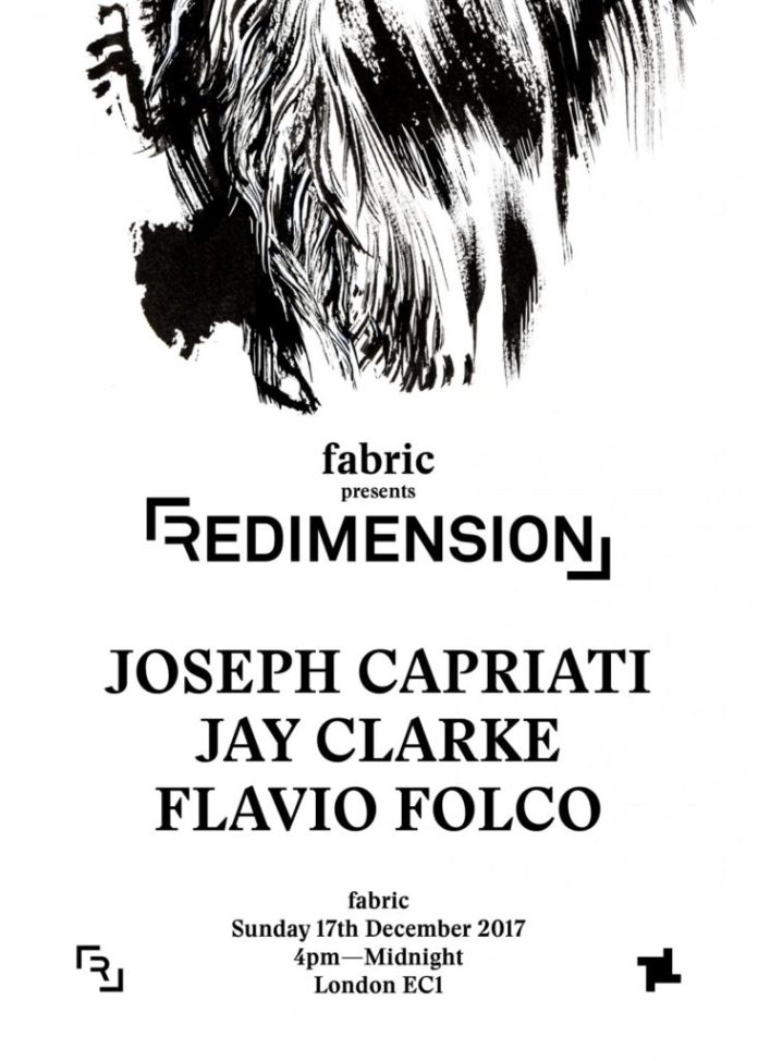 fabric london redimension joseph capriati flyer