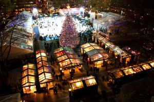 holiday market stay warm but have fun