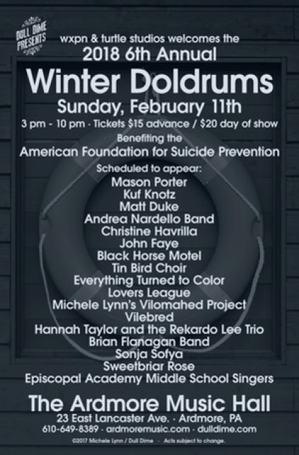philadelphia music winter doldrums lineup poster