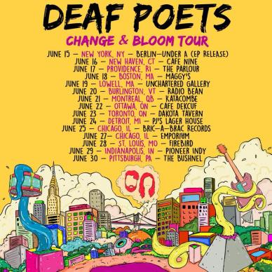 Deaf Poets tour poster