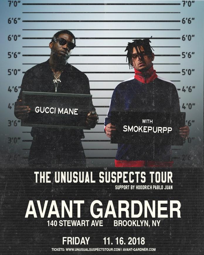 Gucci Mane Avant Gardner Smokepurpp lineup poster
