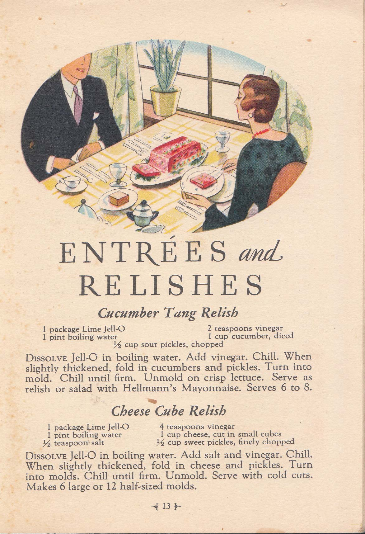 Corned Beef Loaf This Recipe Comes From A 1931 Pamphlet Enled Thrifty Jell O Recipes To Brighten You Menus This Booklet Is Largely Characterized By