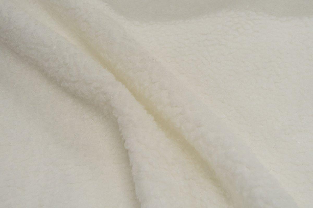 doublure fausse fourrure blanche facon