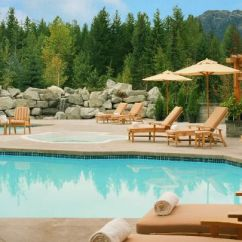 C Spring Patio Chairs Saucer Moon Chair Whistler Hotel Pool | Outdoor & Heated Four Seasons Resort
