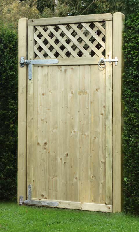 Tongue Groove Lattice Top Garden Gates Wooden Gates Ashford Kent