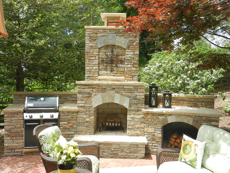 Outdoor Fireplaces Silver Spring Outdoor Fireplace Installation Md