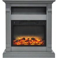 Cambridge Sienna 34 In. Electric Fireplace w/ Enhanced Log ...
