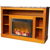 Seville Fireplace Mantel with Electronic Fireplace Insert ...