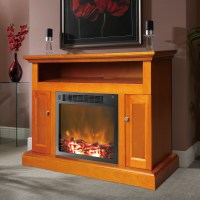 Sorrento Fireplace Mantel with Electronic Fireplace Insert ...