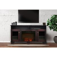 Savona Fireplace Mantel with Electronic Fireplace Insert ...