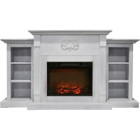 Cambridge Sanoma 72 In. Electric Fireplace in White with ...
