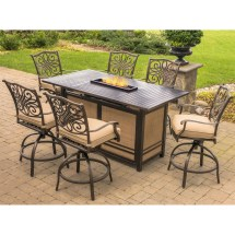 Hanover Traditions 7-piece High-dining Set In Tan With