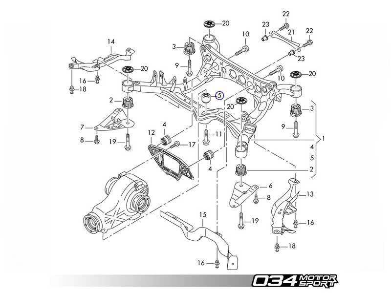 034Motorsport Billet Aluminum Rear Differential Mount