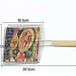 2x Chytaii Grille de Barbecue BBQ Pince de Four Cuisson Double Rectangulaire