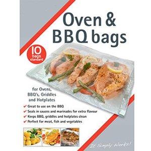 Spares2go BBQ Grille de four plaque chauffante viande Poisson Sac de vapeur et grill cuiseur vapeur Sacs (Medium) Fitment List A