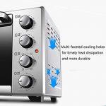 Mini Four, Four électrique Multifonction 30L, Double Porte vitrée, contrôle de température et minuterie-1600W