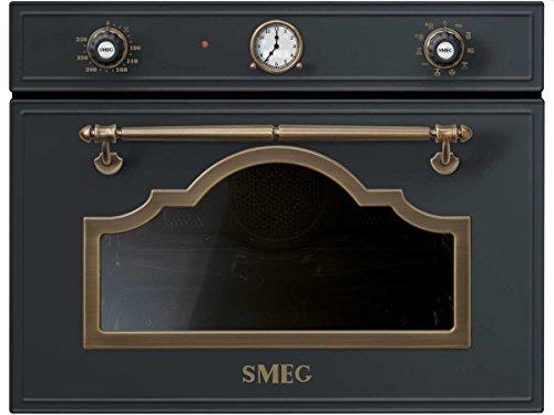 Smeg sf4750mcao Compact Four À Micro-Ondes Anthracite micro-ondes Four Encastrable